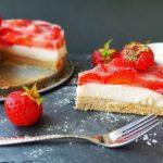 Rezept Gesunder Erdbeerkuchen mit Vanillepudding zum Abnehmen