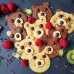 Teddy Pfannkuchen mit Gesicht