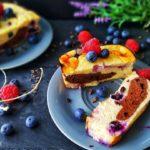 gesunder Protein Kaesekuchen mit Grieß